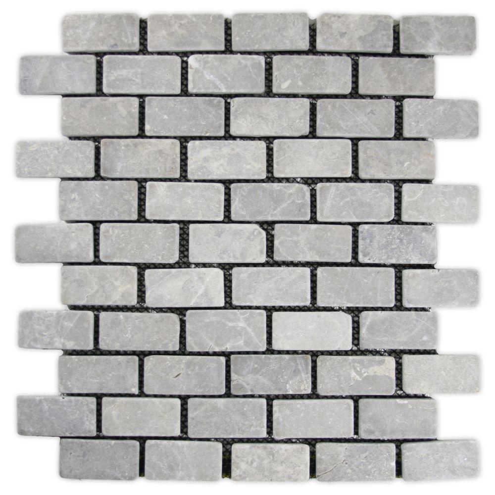 Light grey mini stone subway tile subway tiles lights and pebble light grey mini stone subway tile dailygadgetfo Gallery