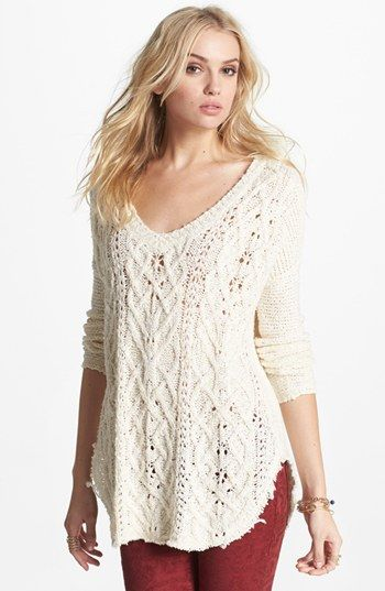 high/low sweater - great with skinny jeans