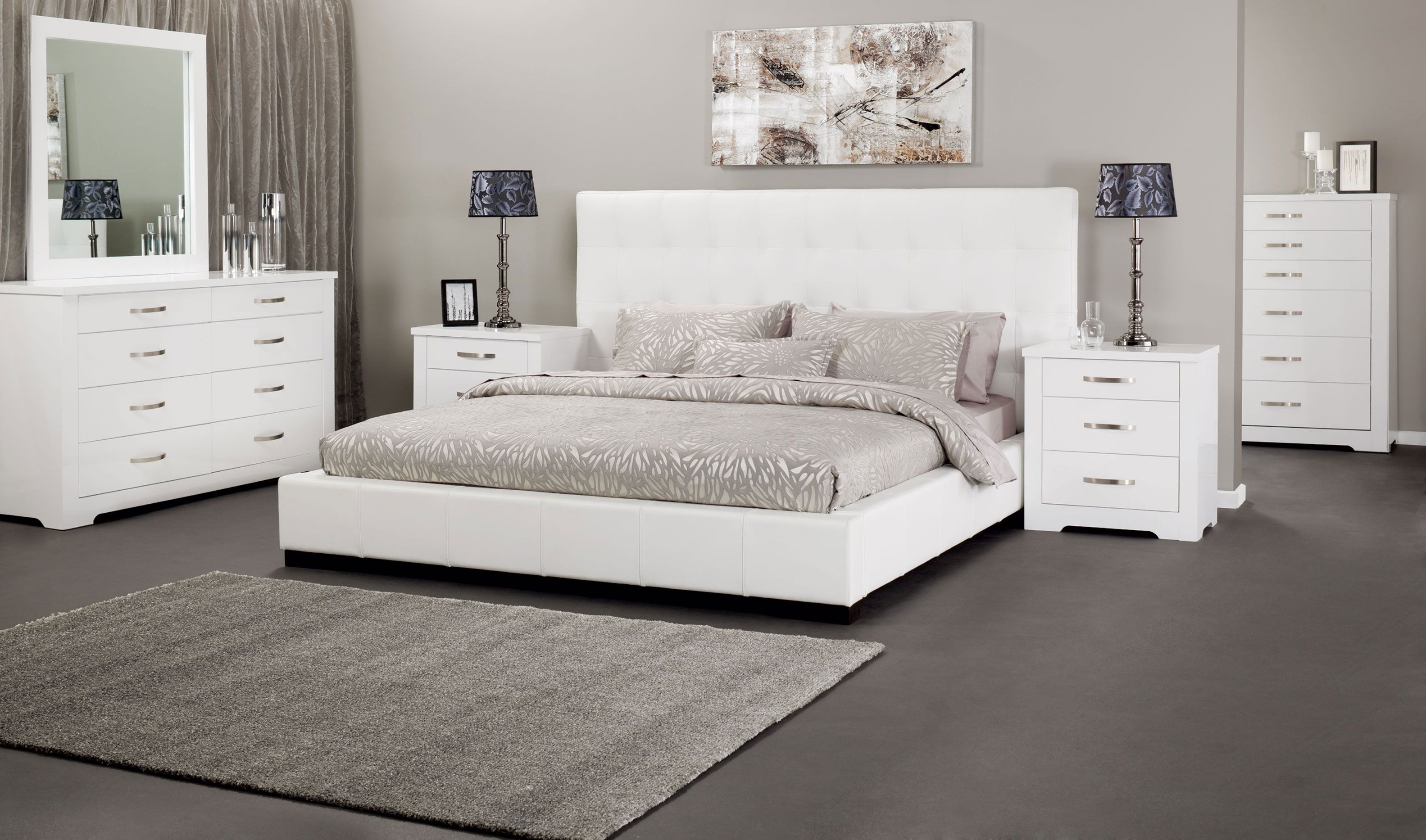 Alexa King size bed in Genuine leather | Leather & Man made leather ...