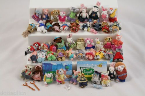 Furryville Mattel Mini Animal Bunny Bear Pig Toys Huge Lot #Furryville #Animals