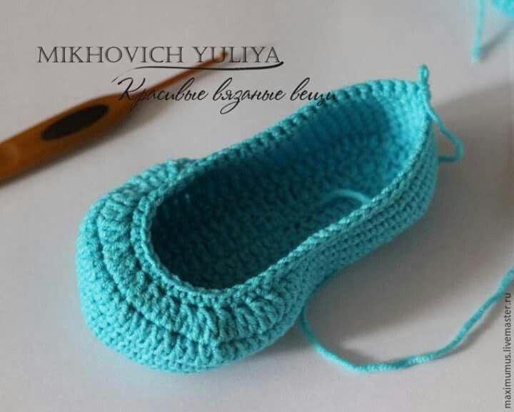 23f0efd78b26c Papučky | Háčkovanie: papučky a ponožky | Háčkovanie, Ponožky