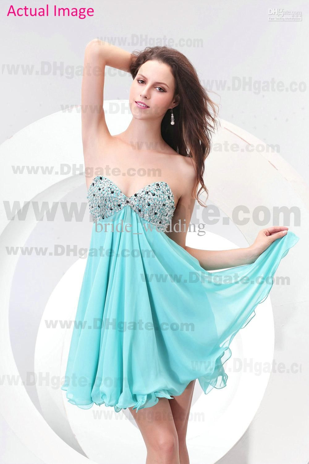 2013 Beach Light Sky Blue Sweetheart Homecoming Dresses Beading ...