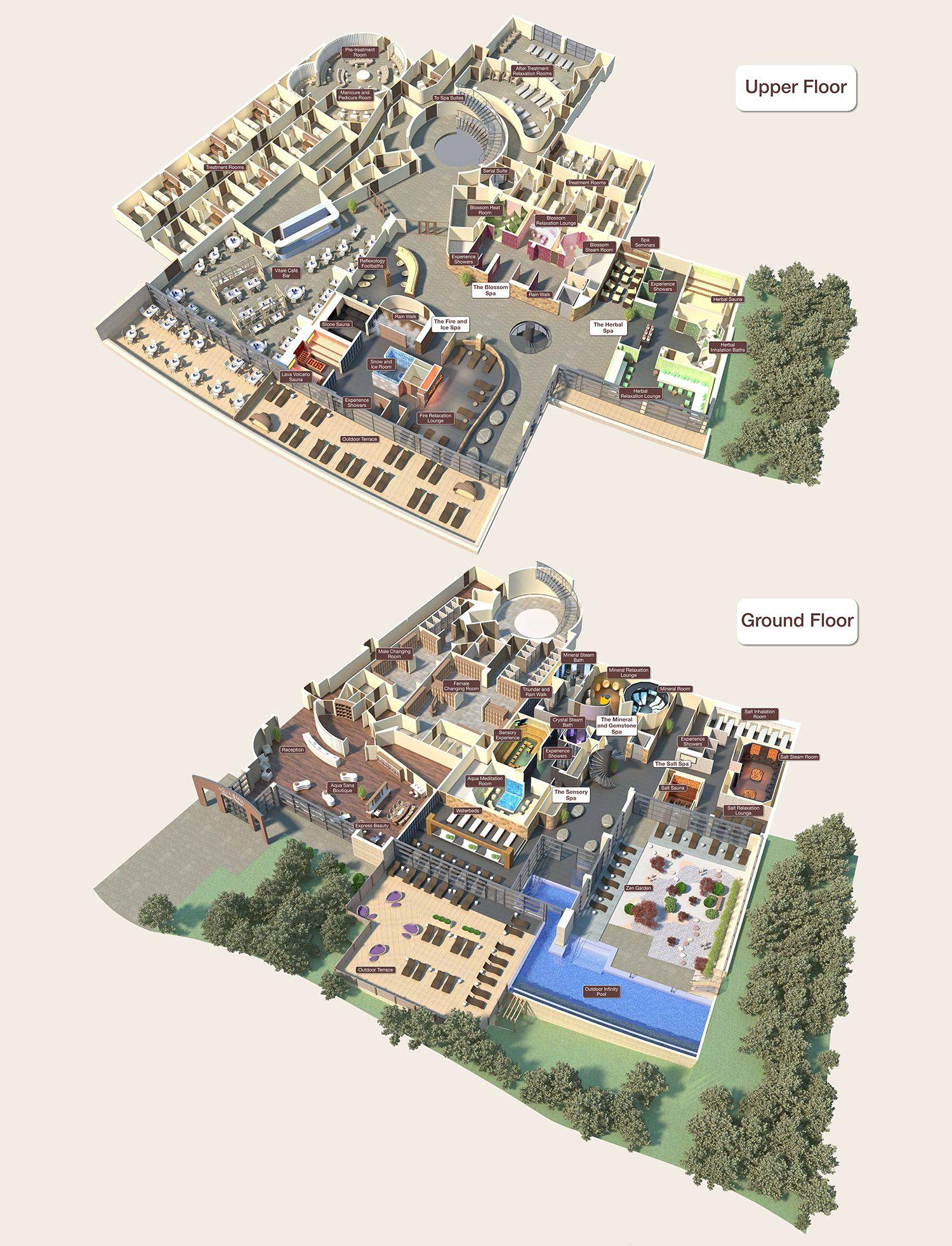 Floorplan at Woburn Forest  Center Parcs  Aqua Sana  Pinterest