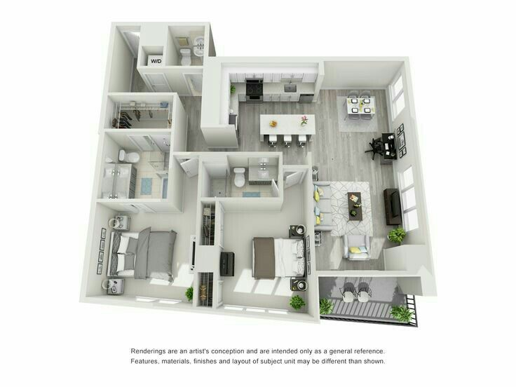 Pin by Karine on 3D House Floorplans in 2018 Pinterest House
