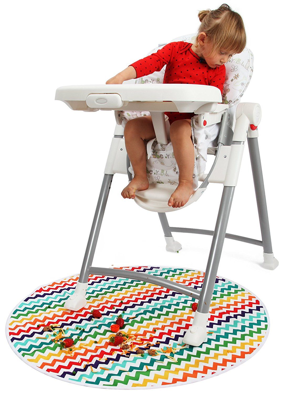 Amazon Com Kenley Baby Splat Mat For Under High Chair Waterproof Washable Feeding Highchair Food Splash Spill Mats Splat Mat High Chair Washable