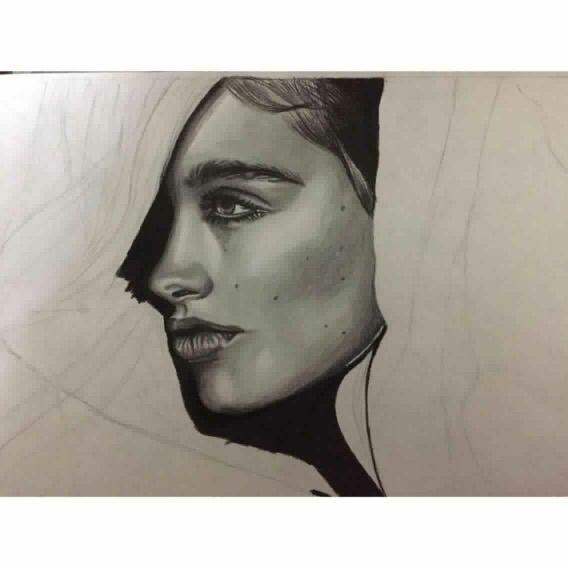 رسم بالابيض و الاسود شذى خالد Stippling Art Art Portrait Tattoo
