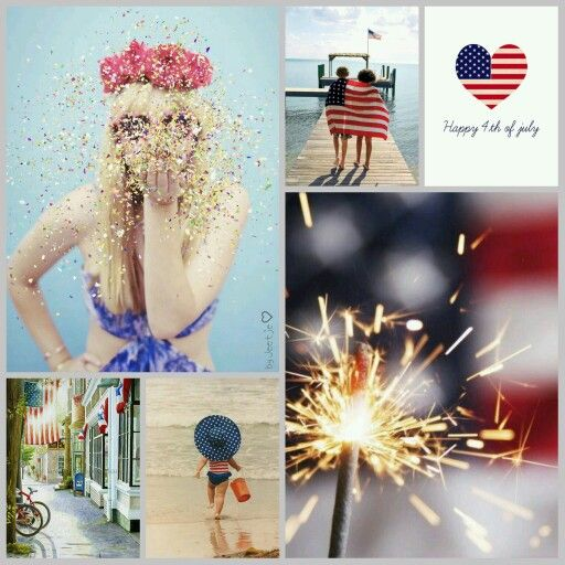 Happy Independence Day America! Enjoy the fireworks, cookouts, family and friends! #moodboard #mosaic #collage #inspirationboard #byJeetje♡
