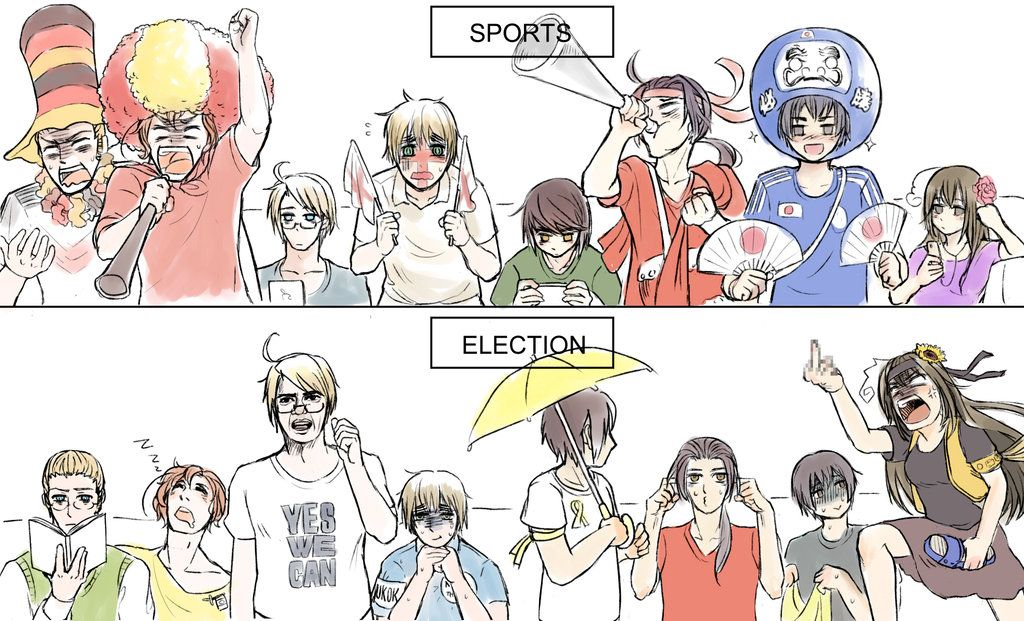 It's like America, Hong Kong and Taiwan don't care about sports, but when elections come around... watch out for Taiwan... I warned you... :P