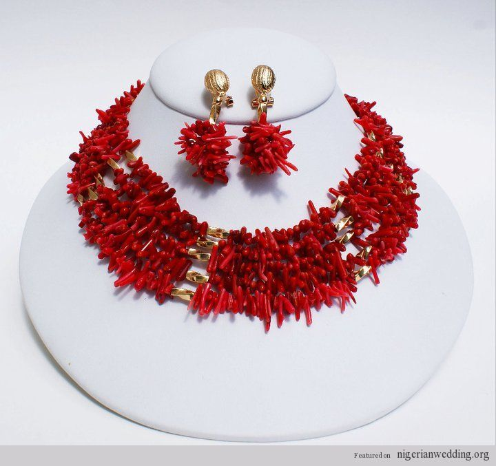 17 Elegant Red Coral Bead Jewelry Ideas...Exclusively For Nigerian Brides |