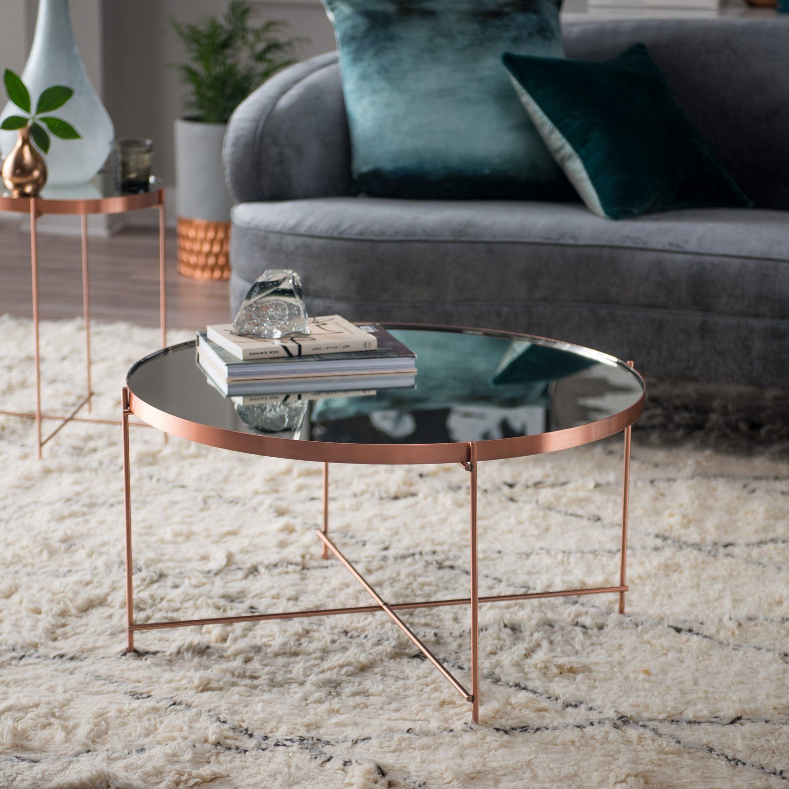 Belham Living Bradley Round Copper Coffee Table Coffee Table