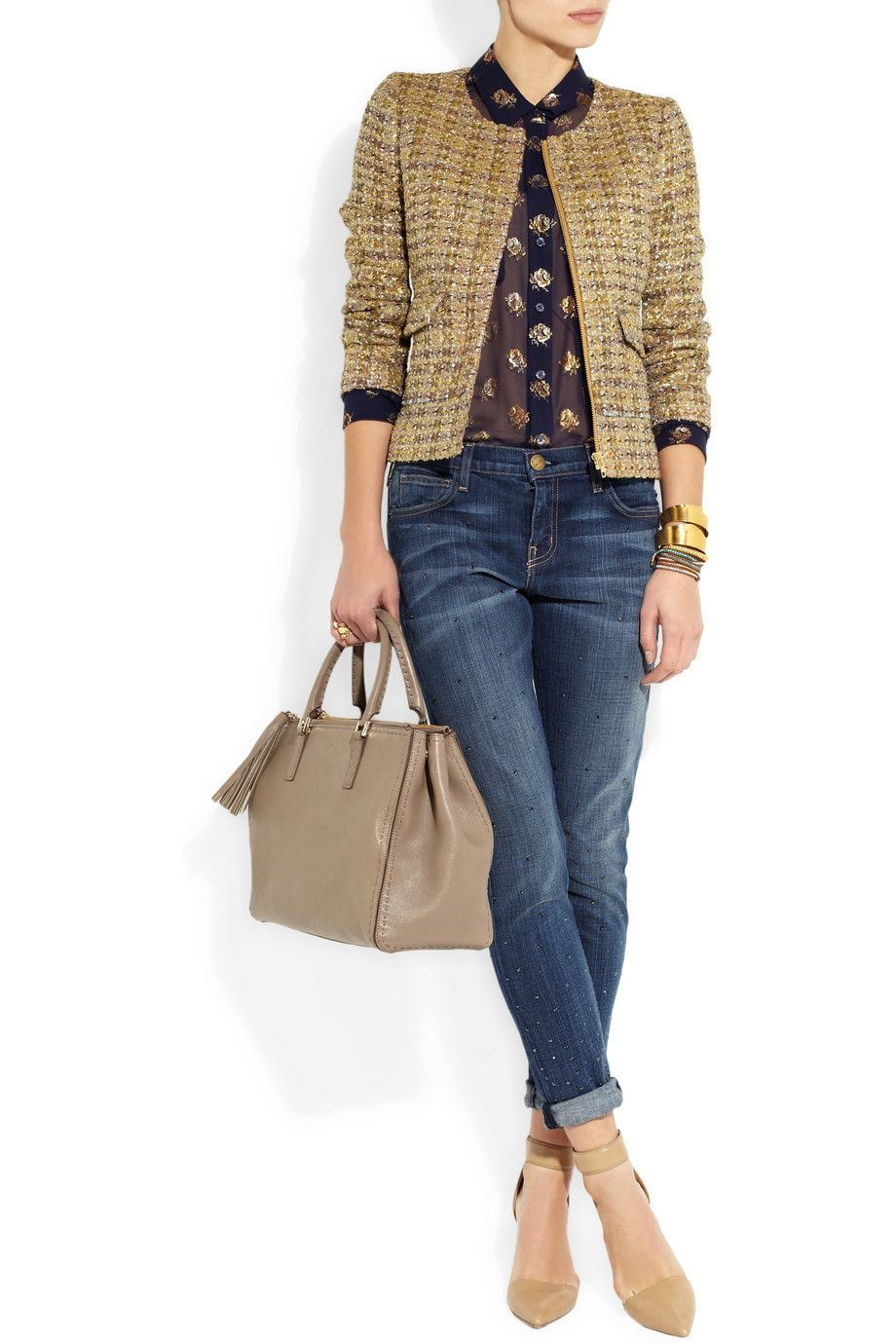 "Thats Not My Age. J. Crew ""Chanel""-style jacket and jeans."