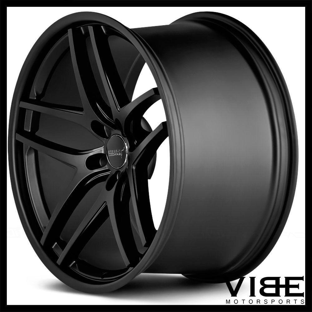 "22"" Savini Bm7 Black Concave Wheels Rims Fits Chrysler 300"