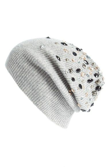 68009f447b923 autumn cashmere Embellished Cashmere Beanie available at  Nordstrom ...