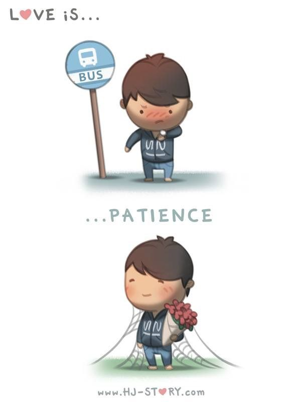 Patience | chibi | Hj story, Cartoons love, Cute love stories
