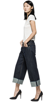 Jeans cropped fit Basinkim - Replay
