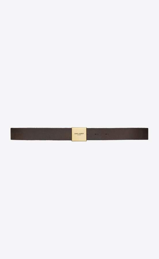 bf239755b0d Saint Laurent Bellechasse Belt In Dark Brown Vintage Leather ...