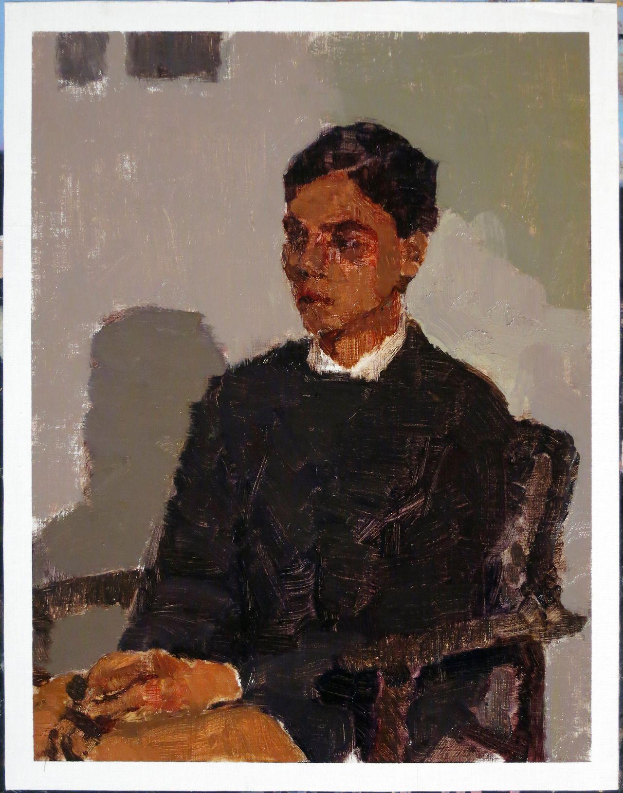 shaheed, or whistler's mother's son, thursday evening. Really good local artist, Ian Grose