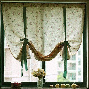 Drawstring Country Living Flower Cotton Curtains Cafe Curtain For Window Or Door Free Shipping In From Home Garden On Aliexpress