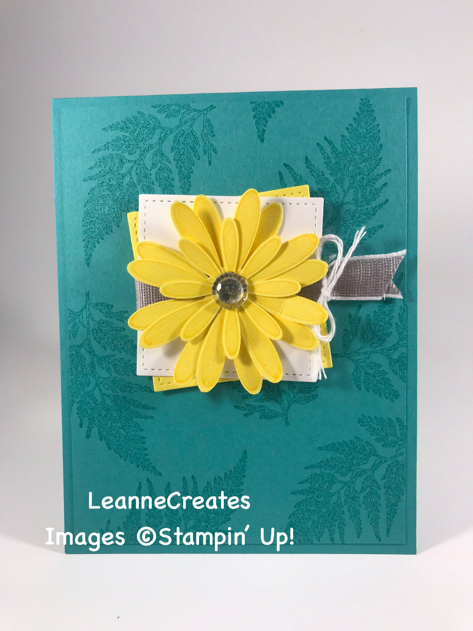 Cased Card From Stampin Mojo Easy To Mass Produce Fun To Coordinate Colors Products Used Daisy Lane Stamp S Flower Cards Stampin Up Cards Cards