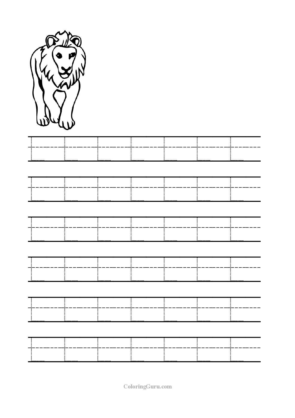 3 Letter L Writing Practice Worksheet Free Printable
