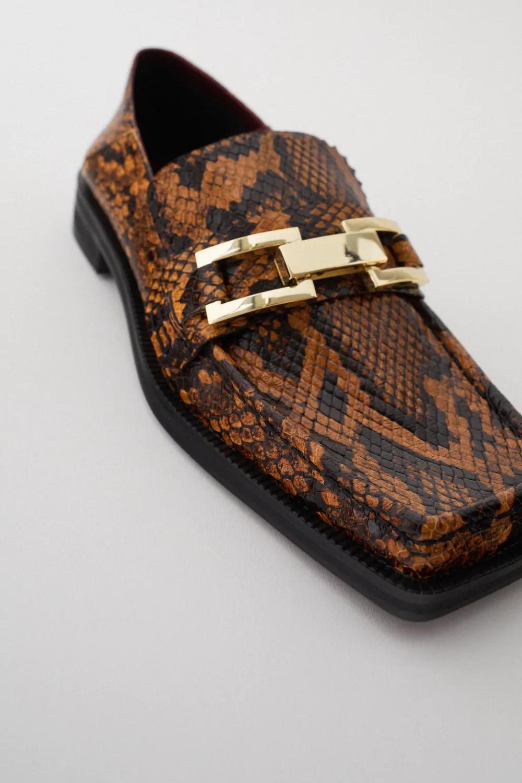 Mokasyny Z Odkryta Pieta W Zwierzecy Desen Zara Polska Poland Loafers Dress Shoes Men Leather Loafers