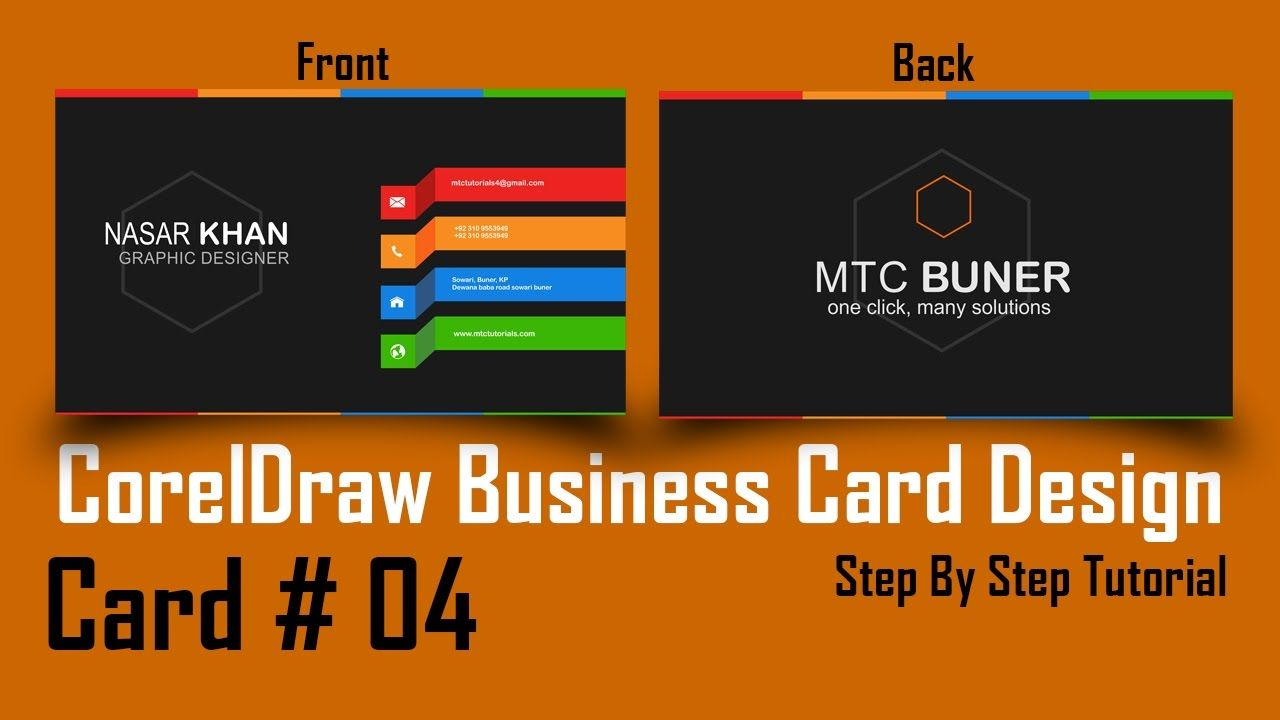 How to make a business card in coreldraw professional 3d card how to make a business card in coreldraw professional 3d card design wajeb Images