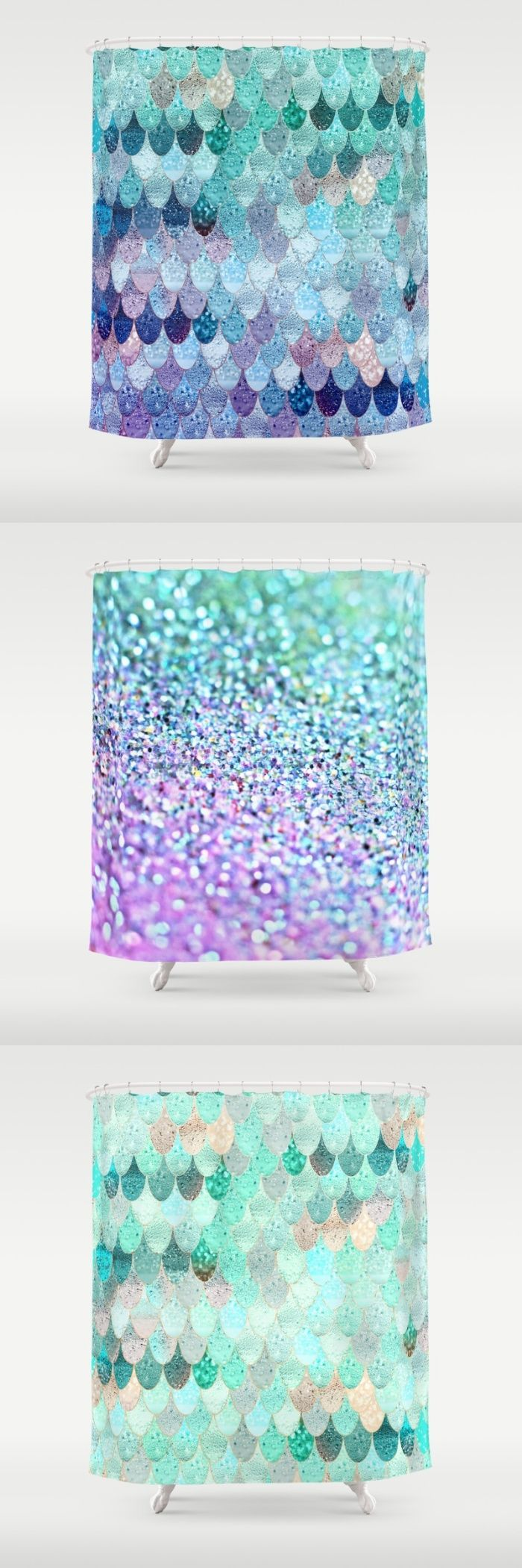Everything mermaid ....... $68  Find the cutest mermaid showercurtains in my S6 shop and more home decor for mermaids at heart!  #mermaid #mermaidroom #mermaidscales #showercurtain #bathroom #deco #homedecor #mint #lilac #scales #fishscales #pattern #girls #shiny #bright #cute #purple #blue #monikastrigel #society6 #denydesigns #mermaidbathroomdecor