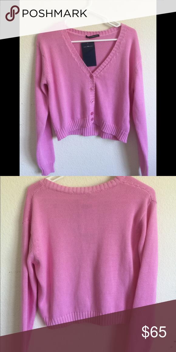 Brandy Melville Bubblegum Pink Billie Sweater Nwt Brandy