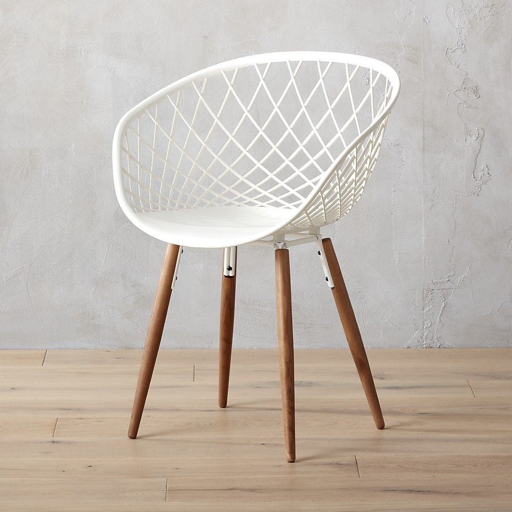 Sidera White Crosshatch Chair + Reviews Dining room