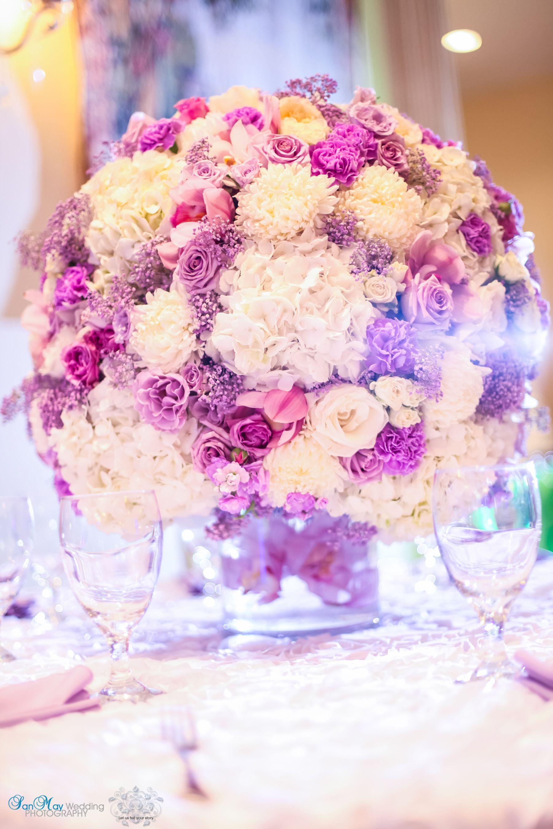 white lavender pink hydrangea rose carnation orchid spring summer ...