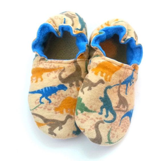 6a563a40481 dinosaur slippers toddler boy dinosaur shoes by ScooterBooties ...