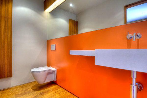 Badezimmer Deckenfarbe ~ Spaces featuring radiant color in interior design