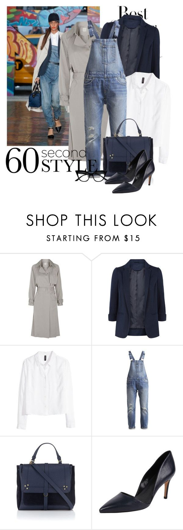 """Overalls To Work"" by tsungie ❤ liked on Polyvore featuring H&M, Mason by Michelle Mason, Monsoon, Levi's, Jérôme Dreyfuss, Charles David and Retrò"