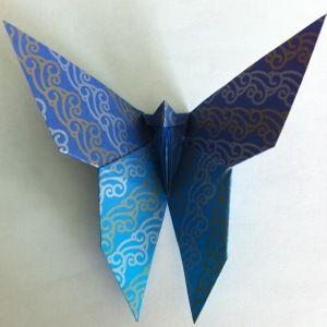 Kit origami modulare 3D Libellula Blue