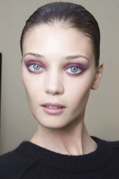 """""""Purple Haze"""" eye look- have to be careful when choosing the shade of pink or purple you use if you are Doing a pink or purple eye look. Otherwise you may come off as looking sick, because pink could look like a rash. But the violet eye trend is so pretty! Super flattering on green and brown eyes."""