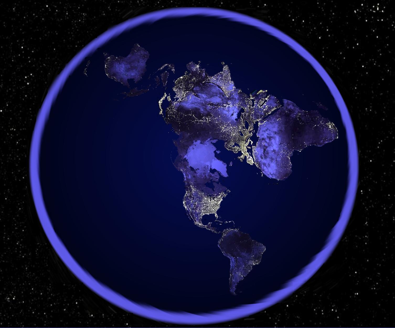 Night World Map Night World Map