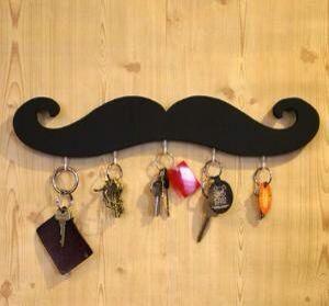 Porta llaves bigote dia del padre pinterest bigote - Porta llaves pared ...