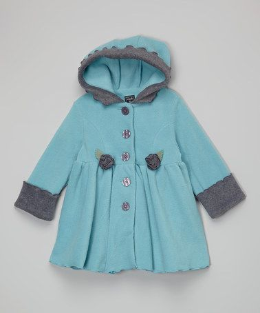 Another great find on #zulily! Patina & Charocoal Hooded Coat - Infant, Toddler & Girls #zulilyfinds