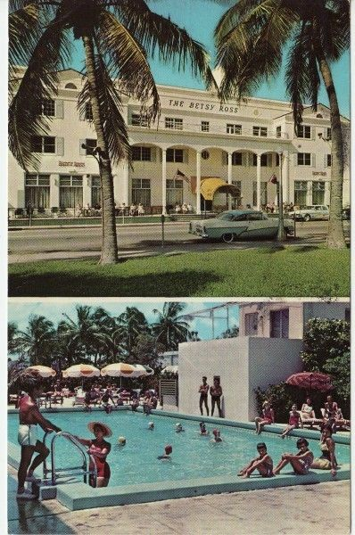 Details About Miami Beach Fl Casablanca Hotel Swimming Pool 63rd St