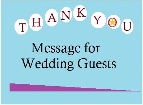 Thank You Message For Wedding GuestsSamples Of What To Write In A