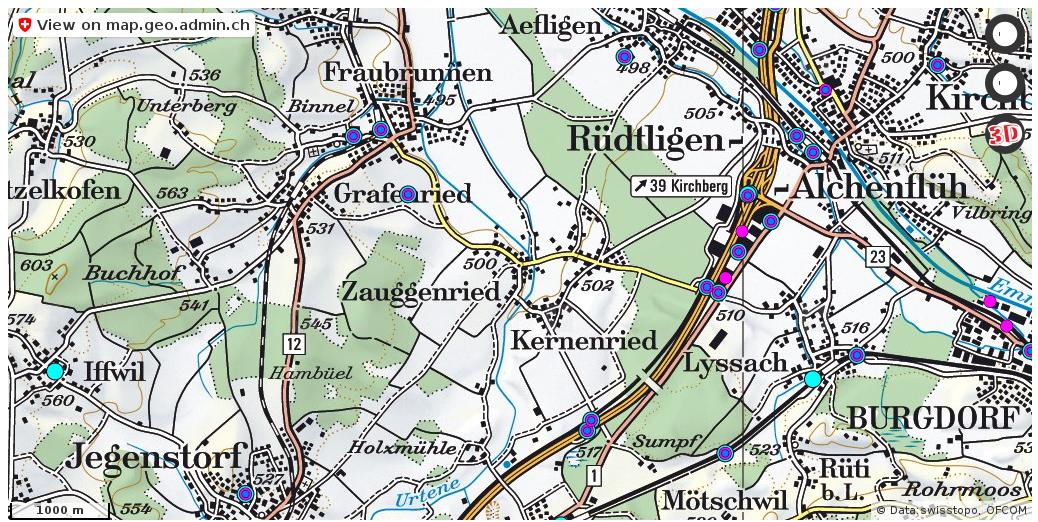 Fraubrunnen BE Handy antennen netz Natel http://ift.tt/2rXbUOL #karten #gis