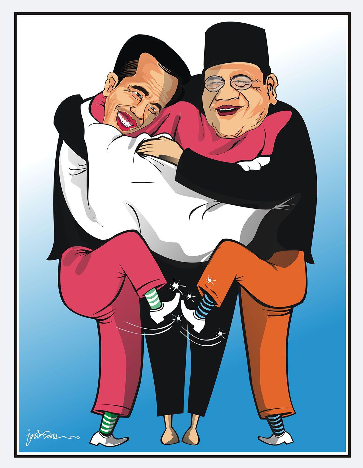 Jokowi Vs Prabowo Kartun Jokowi Vs Prabowo Di 2019 Fictional