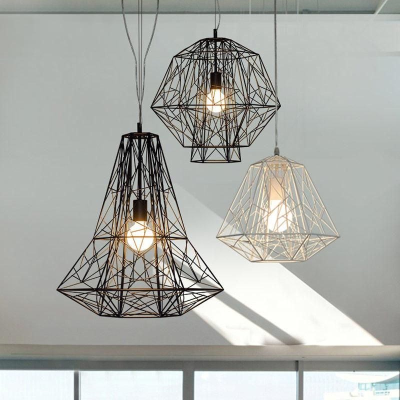 Geometric Cage Minimalist Pendant Light In 2020 Cage Ceiling