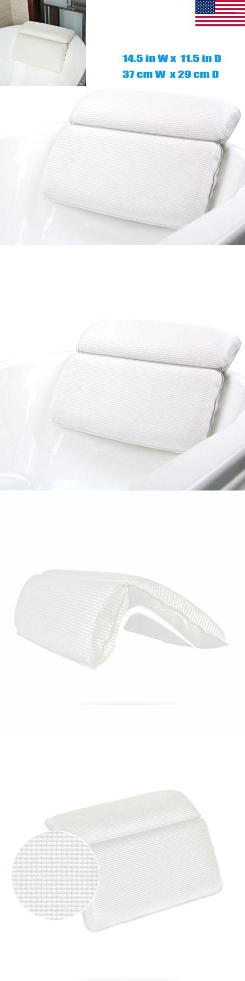 Waterproof bath spa pillow neck back support foam bathtub tub