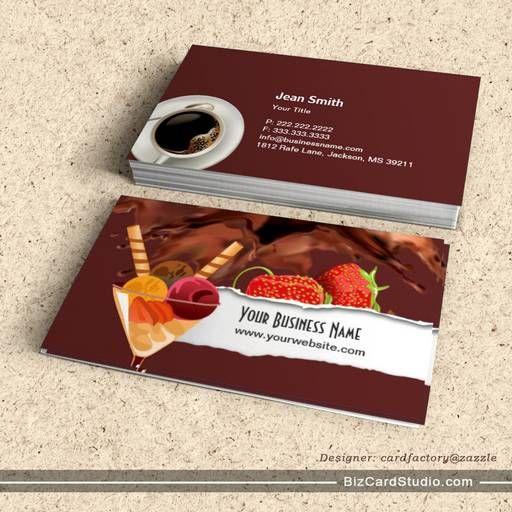 Ice Cream Chocolate Dessert Business Card Bakery Business Cards Bakery Business Cards Templates Chocolate Desserts