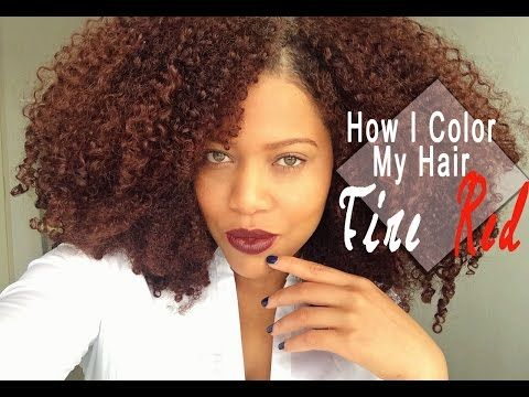 How I Color My Natural Hair At Home | Naturtint Fire Red Hair Dye ...