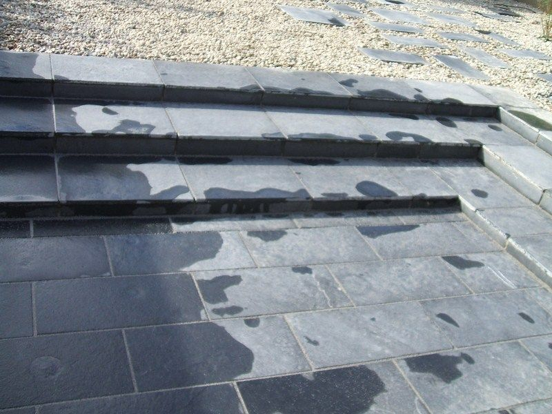High Quality Black Indian Limestone Paving Slabs