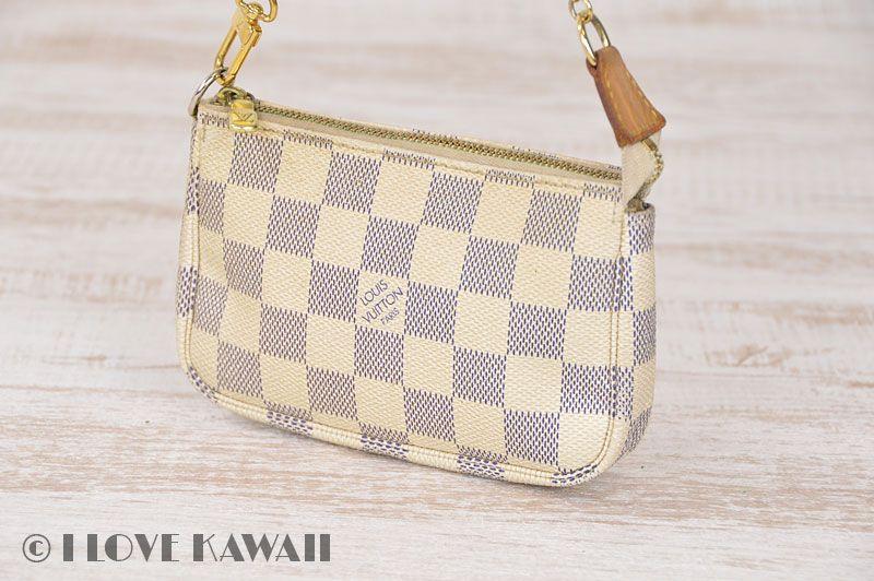 Louis Vuitton Damier Azur Mini Pochette Accessoires Hand Pouch N58010