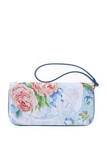 Floral Zipper Closure Wallet With Hand Strap img
