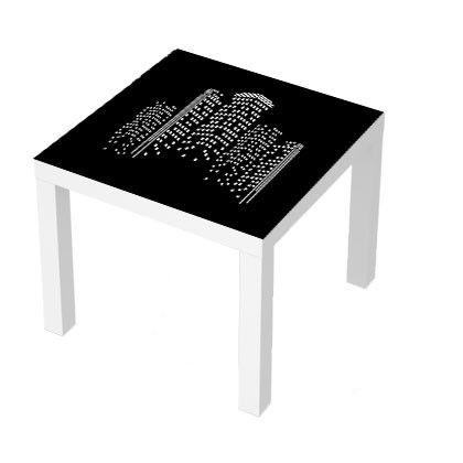 Stickers Pour Table Basse Lack 55x55 City Sticker Original
